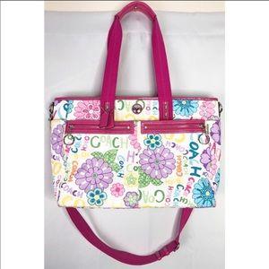 Coach daisy floral graffiti multicolor diaper bag